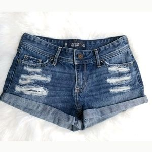 Hollister Short Short low rise Distressed Shorts
